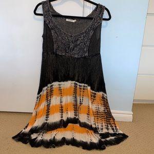 TEXTURED SUN DRESS